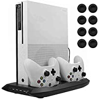 Lictin Xbox One S Vertical Stand Cooling Fan with Dual...