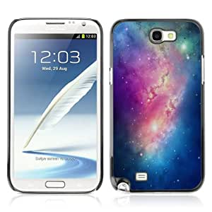 Designer Depo Hard Protection Case for Samsung Galaxy Note 2 N7100 / Colorful Galaxy
