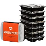 Mahlzeit Prep Zone 3 Compartment Food Storage Containers with Lids, Set of 7