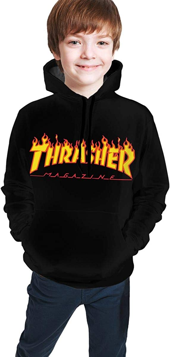 Cozystore Childrens Hoodies Thrasher Magazine 3D Print Sweatshirt for Kids//Youth//Boys//Girls
