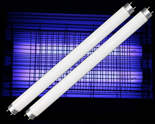 2-pack T8 10W 13 inch UV Fluorescent Compact Light Electronic Bug Pest Zapper Replacement BL Straight Tube