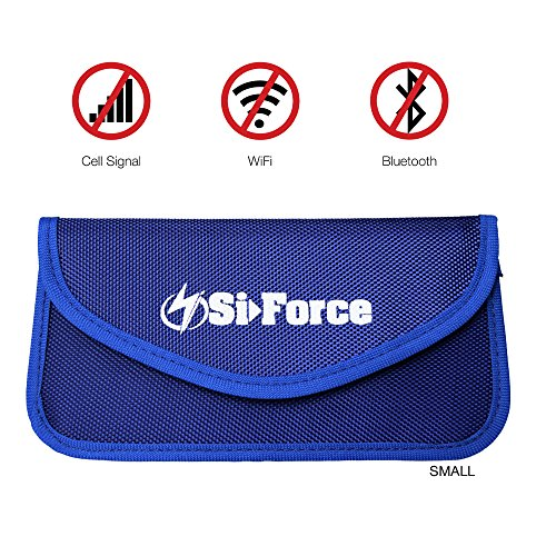 Faraday Bag, SiForce Signal Blocking Bag Shielding Pouch Wallet Case for Cell Phone Privacy Protection and Car Key FOB (Small)