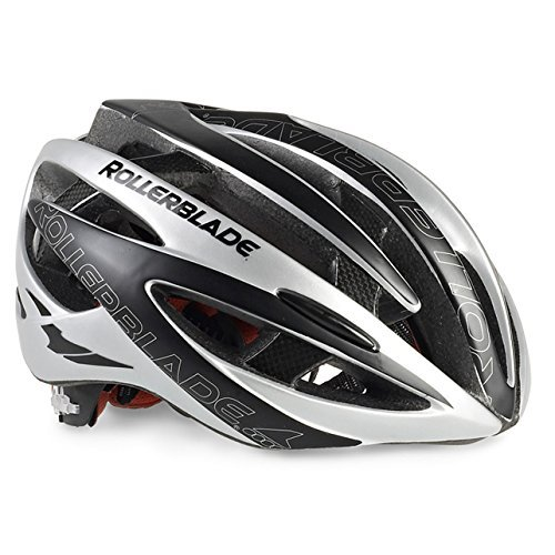 (Rollerblade Race Machine Helmet Black / Silver XL & Headband Bundle)