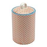 Nicola Spring Patterned Porcelain Tea / Coffee / Sugar Canister - Orange Print Design