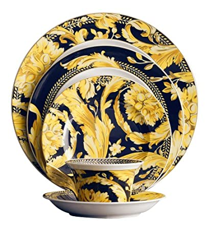 Versace by Rosenthal Vanity 5 piece place setting  sc 1 st  Amazon.com & Amazon.com | Versace by Rosenthal Vanity 5 piece place setting ...