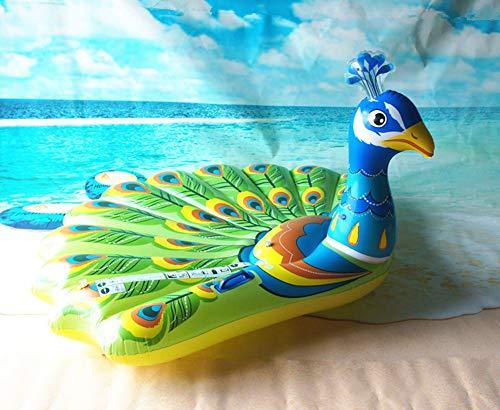 Sucastle Hinchable Pavo Real, Flotador Colchoneta Hinchable de Piscina, Fiesta Inflable de los Adultos del Juguete del Agua de la Natación, Personas Niños y ...