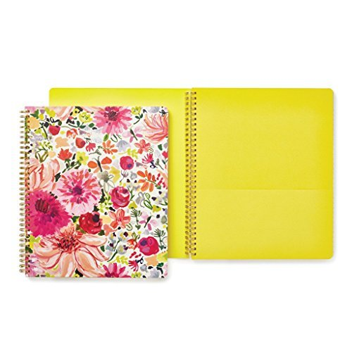 Large Spiral Notebook (Kate Spade New York Large Spiral Notebook, Dahlia)