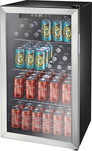 Insignia 115 Can Beverage Cooler Stainless