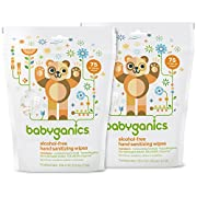 Babyganics Hand Sanitizing Individual Packet Wipes (Pack of 2)