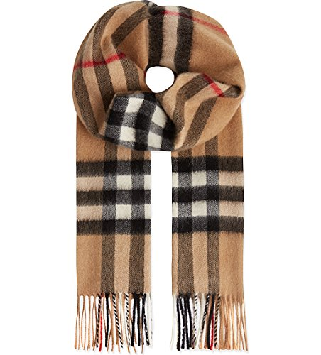 Burberry Unisex Classic Check Cashmere Scarf - Male Burberry Models