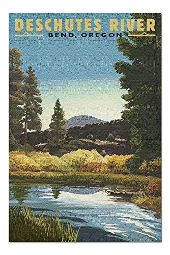 - Bend, Oregon - Newberry Volcano Lava Flow (20x30 Premium 1000 Piece Jigsaw Puzzle, Made in USA!)