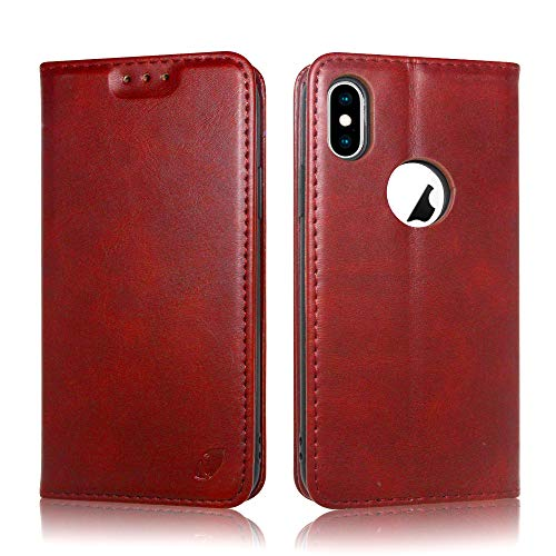 Techstudio Extreme Series Flip Cover Flip Case for Apple iPhone X, iPhone 10   X Level  Red