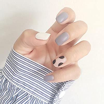 Amazon.com: Yean uñas postizas 24 piezas/set uñas falsas ...