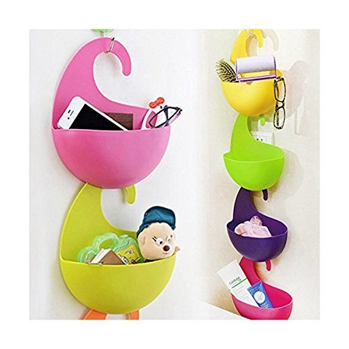 Colorful Hanging (LOHOME (TM) Innovative Fashion A LOT 4 pcs Colorful Assembled Cabinet Set Multi-purpose Hanging Basket Multilayer Superposition Receive Basket Wall-hanging Eco-friendly Plastic Storage Basket)
