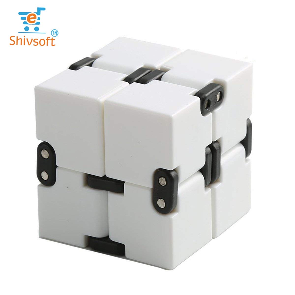 Infinity Cube Puzzle Decompression for Kids and Adults (White) by OK Seller (Image #8)