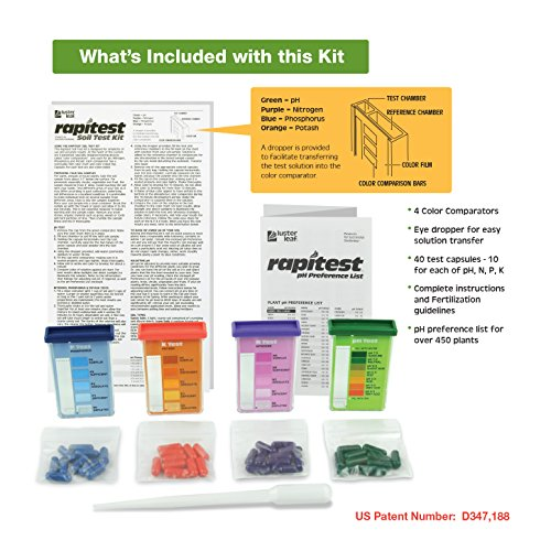 Luster Leaf 1601 Rapitest Test Kit for Soil pH, Nitrogen, Phosphorous and Potash by Luster Leaf (Image #1)