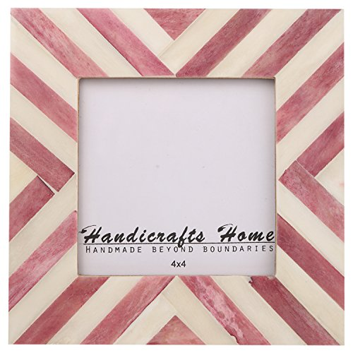 Picture Frames Photo Frame Chevron Herringbone Vintage Wooden Handmade Naturals Bone Classic Size 4x4 Inch - Frames Macys