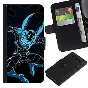 A-type (Superhero Comics Carácter Figura Arte) Colorida Impresión Funda Cuero Monedero Caja Bolsa Cubierta Caja Piel Card Slots Para Samsung Galaxy S3 III i9300 i747