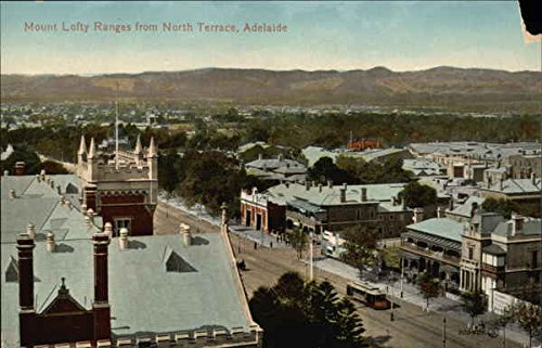 Mount Lofty Ranges from North Terrace Adelaide, Australia Original Vintage Postcard