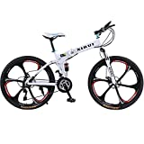Altruism Xirui A1 Mountain Bike for Male Folding Bicycle 21/24 Speed Bicicletas 26 Inch Standard Double Disc Bicycle Adult Bikes White Unisex Biycles (white, Aluminum24 Speed)
