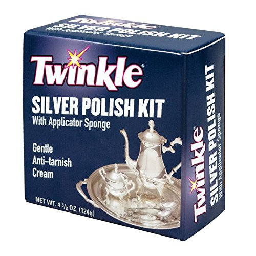 Twinkle Silver Polish Kit, Gentle Anti-Tarnish Cream, 4.38-Ounce Box (Pack of 12)
