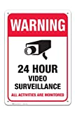 Video Surveillance Sign, Large Rust Free 10 x 14 Aluminum, For Indoor or Outdoor Use - By ARMO