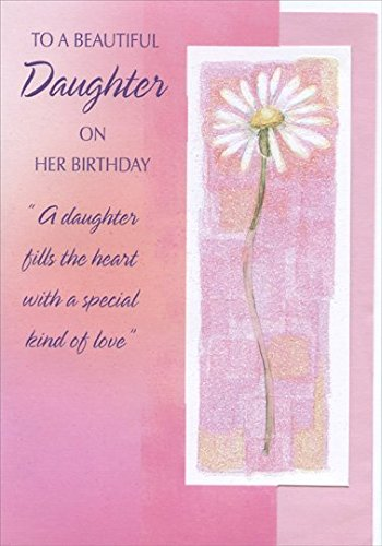 Amazon tall daisy with glitter in white frame die cut tall daisy with glitter in white frame die cut daughter designer greetings birthday card m4hsunfo
