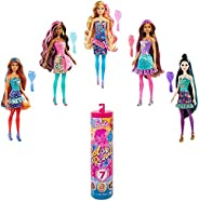 Barbie Color Reveal Doll with 7 Surprises: 4 Bags Contain Skirt, Shoes, Earrings & Brush; Water Reveals Co