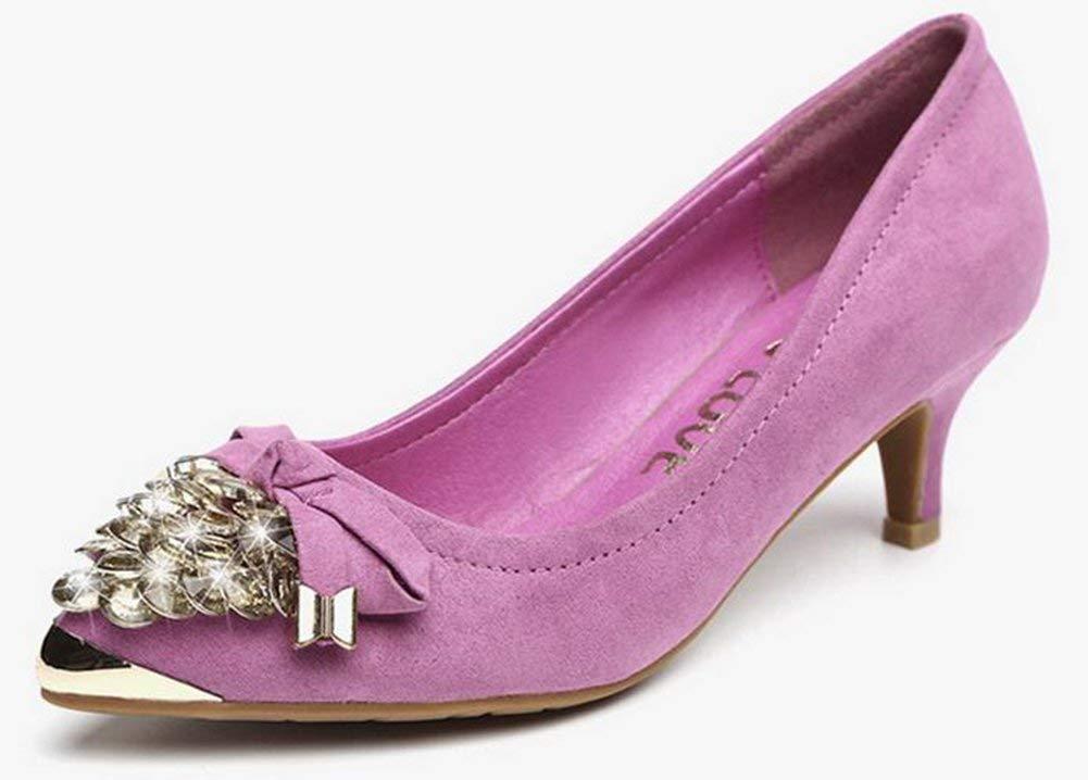 Oudan die Kopf Schuhe mit Die Spitze aus Stahl (Farbe   Rosa Größe   36)