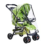 Universal Baby Stroller Rain Cover Waterproof Umbrella Wind Dust Shield Cover for Strollers (A)