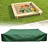 dDanke Green Sandbox Covers with Drawstring as Sandpit Cover Pool Cover - 95% UV Protection Dustproof Waterproof (120X120X20cm)