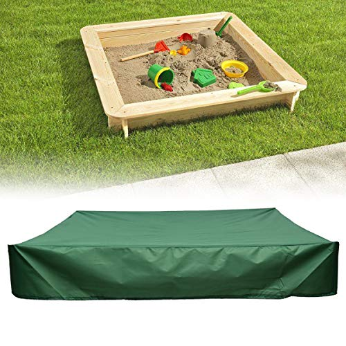 - dDanke Green Sandbox Covers with Drawstring as Sandpit Cover Pool Cover - 95% UV Protection Dustproof Waterproof (180X180X20cm)