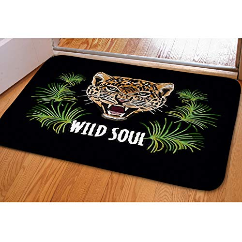 Mustang Embroidery (iBathRugs Door Mat Indoor Area Rugs Living Room Carpets Home Decor Rug Bedroom Floor Mats,Embroidery Colorful Floral Pattern Background)