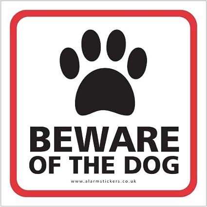 Neo Graphix 3 BEWARE OF THE DOG STICKER Window Stickers