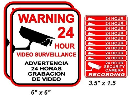 Burglar Bill Costume Ideas (12-Pcs Unequaled Popular Warning Stickers Decal Sign Window Reflective Property Protected Anti-Burglar 2-Large 10-Small)