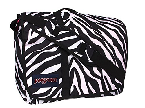 12e5ace78716 JanSport Market Street Messenger Bag, Black/White/Fluorescent Pink