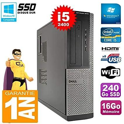 Dell PC 3010 DT Core I5-2400 RAM 16GB Disco SSD SSD Grabador DVD ...