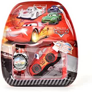 Disney Cars 3 Digital LCD Watch Set with Bag and Plush