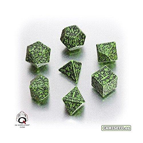 Q Workshop Forest 3D Dice Set, Green/Black