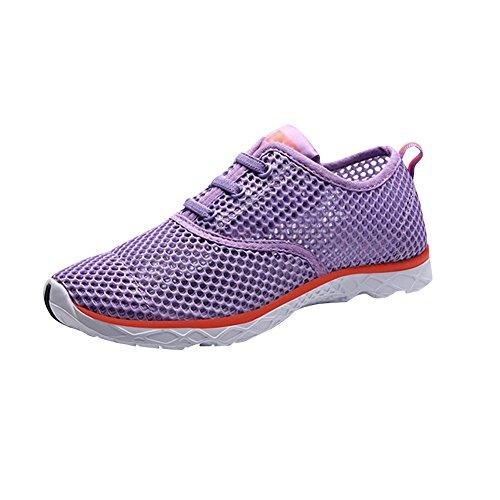 fereshte Trainers Men's Water Couple Unisex Swim Women's Quick Purple Breathable Aqua Women Shoes Mesh Drying Shoes BSrBA8