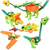 Tomons 81 Piece STEM Toys Kit , Educational Construction Engineering Building Blocks Learning Set for Ages 3, 4, 5, 6, 7 Year Old Boys & Girls