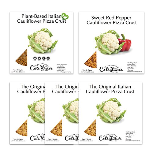 Cali'flour Foods 5 Pack-Variety of Cauliflower Pizza Crusts