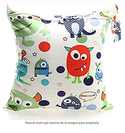 Kyeo VWH Baby Waterproof Zipper Bag Washable Reusable Infant Nappy Changing Cloth Diaper Bag Love