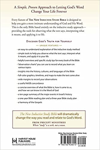 Workbook bible worksheets for middle school : The New Inductive Study Bible (NASB): Precept Ministries ...