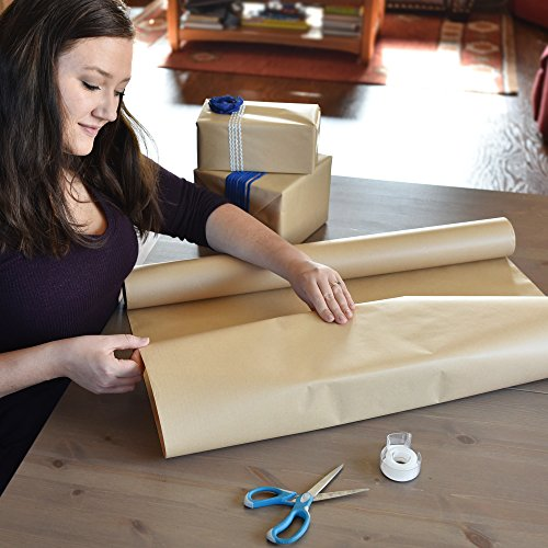 "Kraft Paper Roll - 30""x 1200"" (100ft) - Jumbo Sized, Premium, No Markings, FDA Compliant"