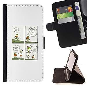 BullDog Case - FOR/HTC One M9 / - / FUNNY - GIRAFFE ILLUSTRATION /- Monedero de cuero de la PU Llevar cubierta de la caja con el ID Credit Card Slots Flip funda de cuer
