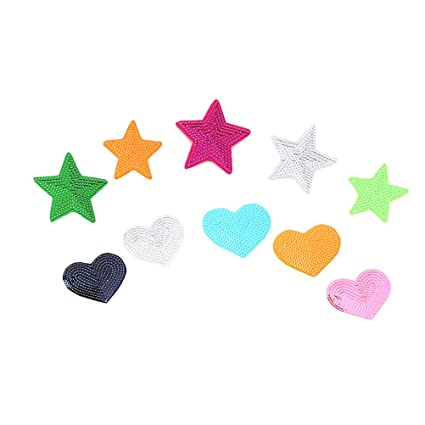 Sequins Patch Love Five-pointed Star Patches Diy Clothing Applique Decor Sew-on Supplies Bag Patch Stage Clothes Patch Accessory Arts,crafts & Sewing