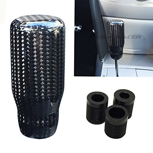 Universal CARBON FIBER Manual Transmission Speed 5 6 Sport Gear Stick Shift Knob JDM Style Auto US Shifter Console Lever (Oem 350z Fiber Carbon Nissan)