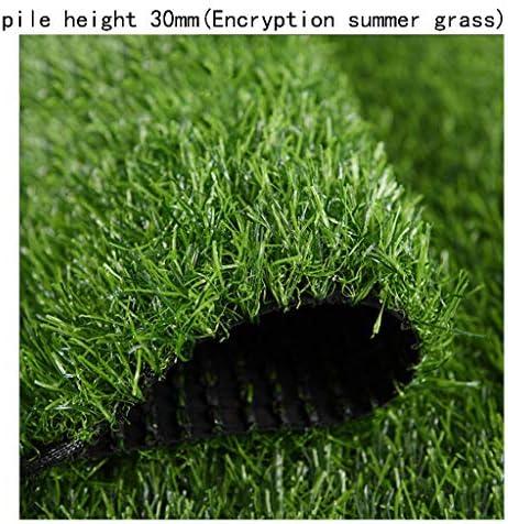 XEWNEG ガーデン人工芝、パイルの高さ30 mm、柔らかくて快適なカーペットマットのお手入れが簡単でアンチエイジングの芝生、屋外バルコニーの装飾に適しています (Size : 2x7M)