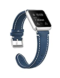 Bands for Apple Watch, SKYLET 38mm/42mm Genuine Leather Straps for Apple Watch Series 3 Series 1 Nike+